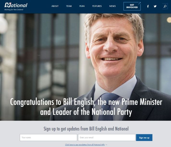 NATIONAL PARTY NZ Fiscal Conservative Party