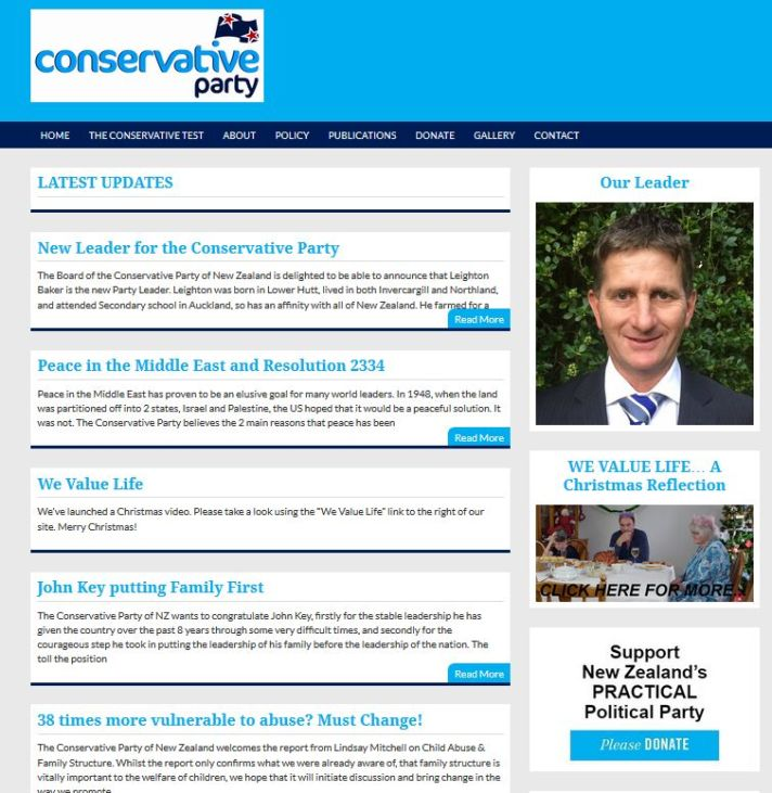 NZ CONSERVATIVE PARTY Fiscal & Social Conservative Political Party