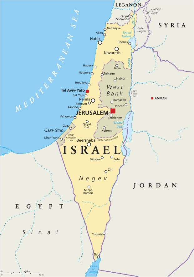 Israel Political Map