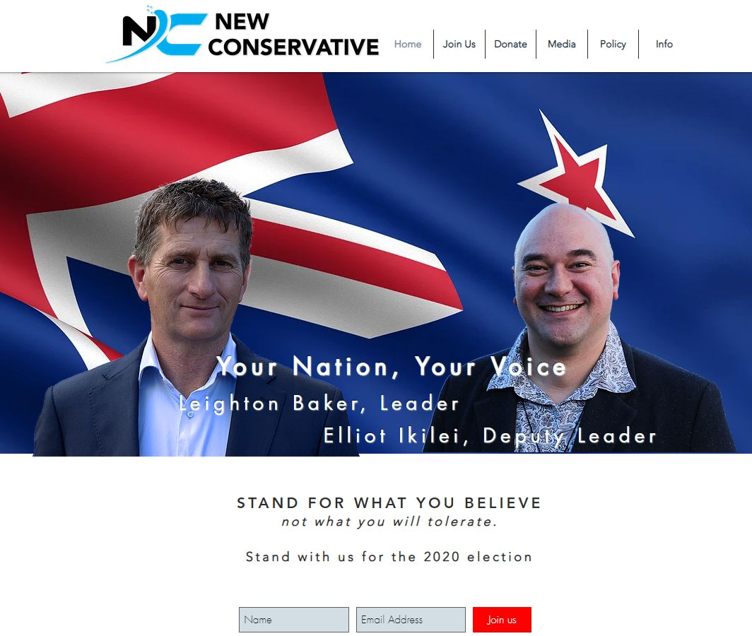 NEW CONSERVATIVE NZ Fiscal & Social Conservative Political Party