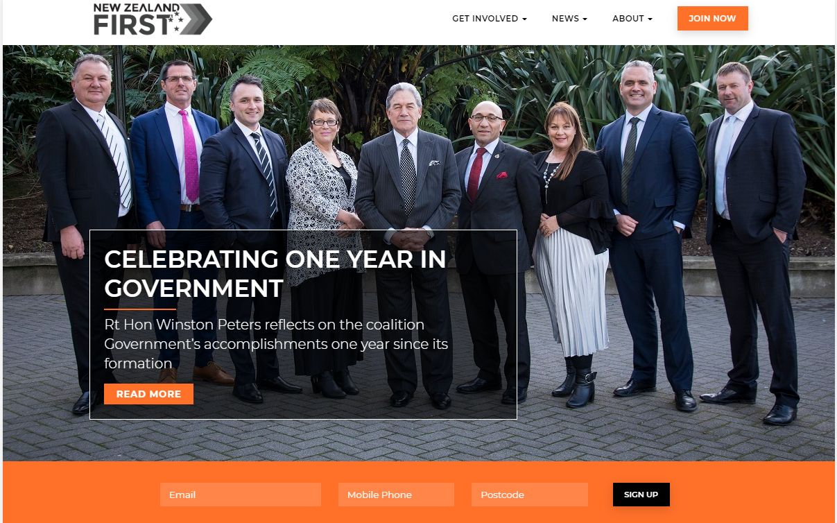 NZ FIRST Fiscal Conservative & Social Progressive Political Party